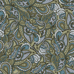Seamless ornamental pattern. Floral design