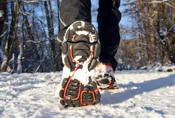 Wall Mural - Winter Jogging Laufen im Schnee - Winter Running in Snow