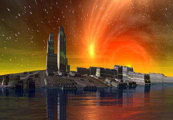 Alien City - Computer Artwork