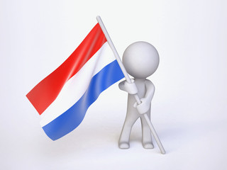 Man with Flag of Holland
