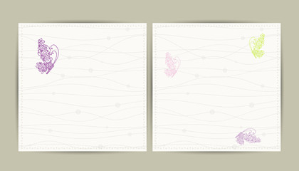 Abstract postcard with butterfly for your design