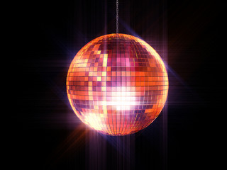 Party disco mirrored ball on chain