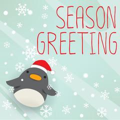 Penguin - xmas greeting card