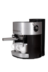 Coffee maker isolated over white with clipping path.
