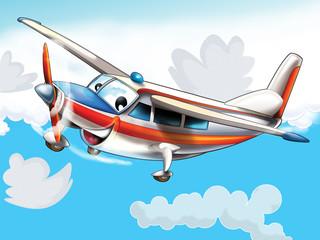 Obraz Mały szczęśliwy samolot - fototapety do salonu