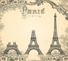 Wall Mural - Construction de la tour Eiffel