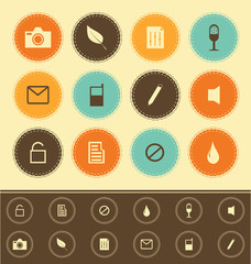 web icons collection  - vintage set