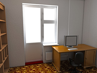 A room with a computer desk №2
