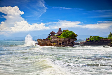 The Tanah Lot Temple, the most important indu temple of Bali