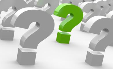 Obraz Spiel der Fragen - Grün - fototapety do salonu