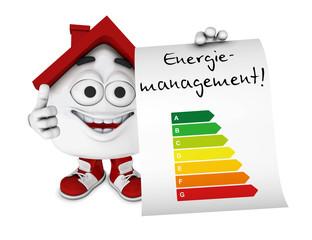Kleines 3D Haus Rot - Energiemanagement Konzept 1