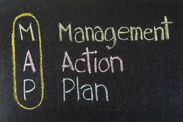 MAP acronym Management Action Plan
