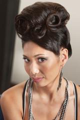 Woman in Retro Hairdo