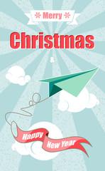 Merry Christmas & Happy New Year airplane