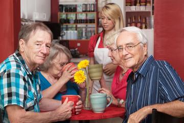 Mature Cafe Patrons