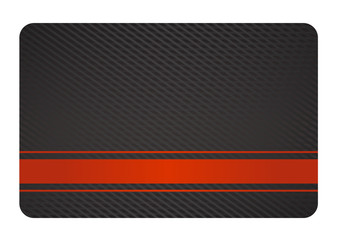 Black Business Card with Texture and Red Label