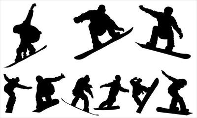 Snowboarding - vector Wall mural