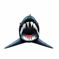 Scary shark jaw