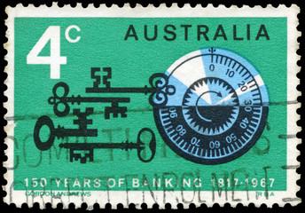 AUSTRALIA - CIRCA 1967 Combination Lock