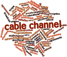 Word cloud for Cable channel