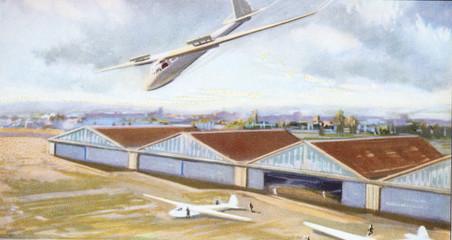 glider old illustration