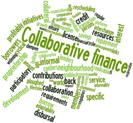 Word cloud for Collaborative finance