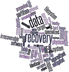 Word cloud for Data recovery