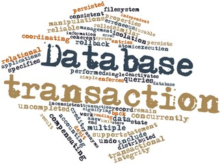 Word cloud for Database transaction