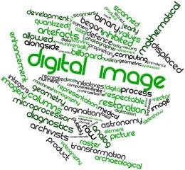 Word cloud for Digital image