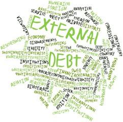 Word cloud for External debt