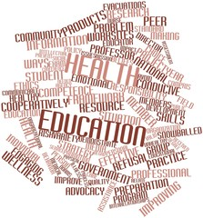 Word cloud for Health education
