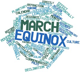 Word cloud for March equinox