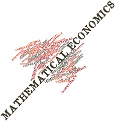Word cloud for Mathematical economics