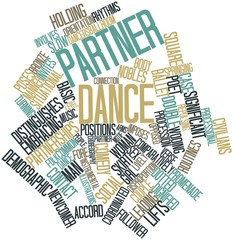 Word cloud for Partner dance