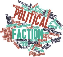 Word cloud for Political faction