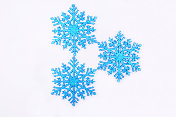 Blue sparkling Christmas snowflake decoration