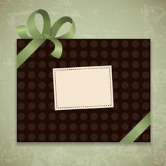 Retro gift box. Vector illustration 10 eps