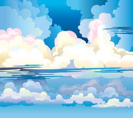 Group of cumulus clouds