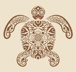 Turtle ornament vector