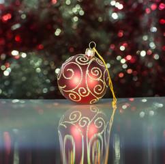 Christmas ball and tinsel