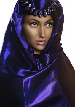 portrait of beautiful chic woman