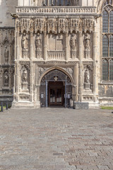 Main entrance to the Canterbury Cathedral, Kent, England