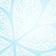 Vector doodle twirl drops background
