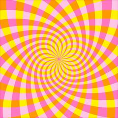 Tuinposter Psychedelic Vector Optical illusion Spin Cycle