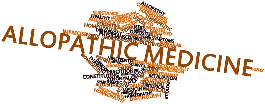 Word cloud for Allopathic medicine