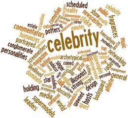 Word cloud for Celebrity
