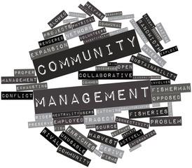 Word cloud for Community management