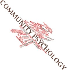 Word cloud for Community psychology