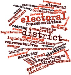 Word cloud for Electoral district