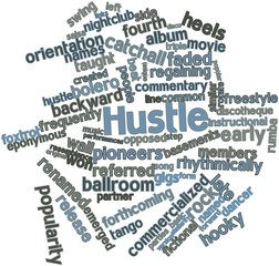 Word cloud for Hustle